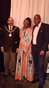 L to R - Lord Mayor of Nottingham, Councillor Mohammed Saghir, Councillor Merlita Bryan and Gifted4Good CEO, Trusty Gushure