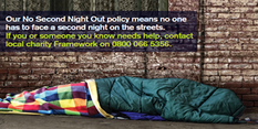 Posters highlight help for rough sleepers in Nottingham