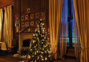A decorated room at Newstead Abbey