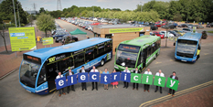 New Centrelink and EcoLink buses electrify Nottingham's Park & Ride services