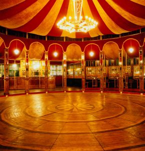 Interior of Spiegeltent