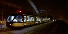 Night time tram testing
