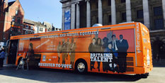 Not registered to vote? Just hop on the bus!