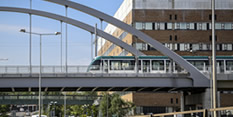 Tram Chilwell Line QMC Bridge May 2015