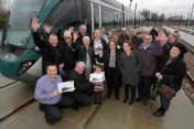 Notts County legends Jimmy & Jack receive tram tribute
