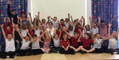 Claire Langham and class at Cantrell Primary and Nursery School