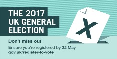 General Election 2017 – Don't leave it too late to register to vote