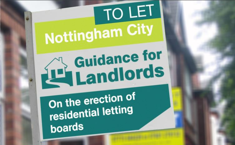 Unsightly Letting Board controls set to continue in Nottingham Neighbourhoods