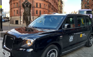 Nottingham welcomes first electric taxi outside London