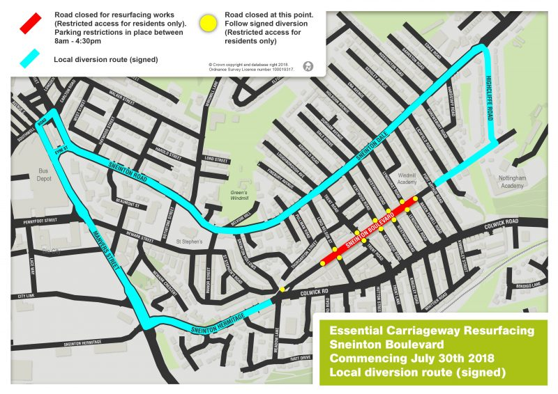Sneinton Boulevard resurfacing
