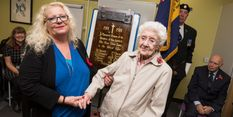 Hilda the guest of honour as First World War plaque is unveiled