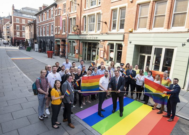 Rainbow Road painted in city centre to celebrate Pride
