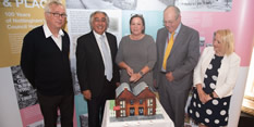 100 years of council housing cake cutting