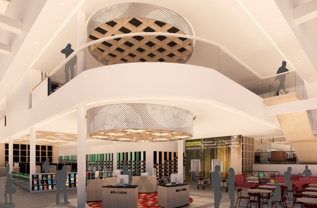 The new foyer and entrance for Central Library