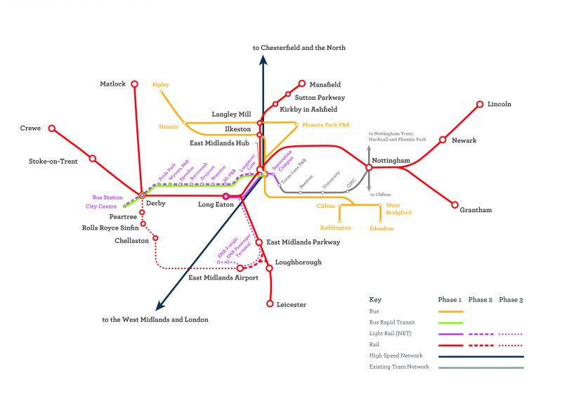 Revealed: £2.7bn transport plan to revolutionise Nottingham's links to HS2 hub station at Toton
