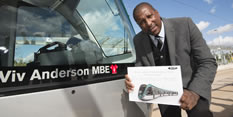 Football hero returns to Clifton to name new tram