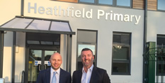 First pupils start at brand new Heathfield Primary site