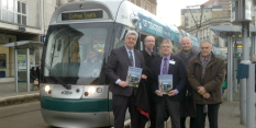 Book about Nottingham's tram network launched in city
