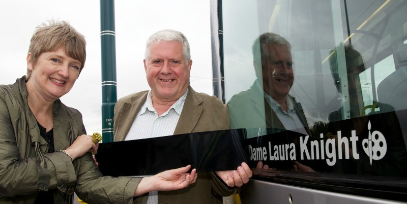 Acclaimed former Nottingham Art School student honoured with final tram name