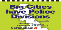 Crime more than halved so why scrap city division – poster campaign