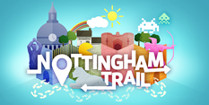 Nottingham's tourism hotspots on the world map with new walking trail
