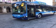 Look out for the new blue green buses