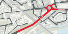 Roundabout closure for resurfacing