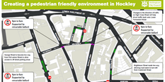 Creating a pedestrian friendly environment in Hockley