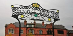 Final touches to Bulwell Market place with new welcome archway