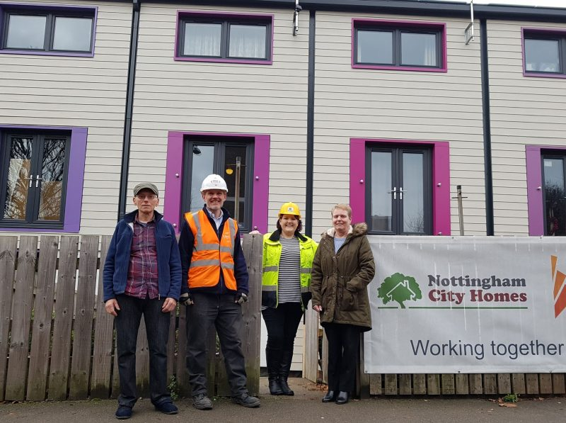 Ultra-low energy homes in Sneinton ready for a warmer Christmas