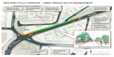 Restoring residents' parking and improving cyclist facilities on Abbey Bridge