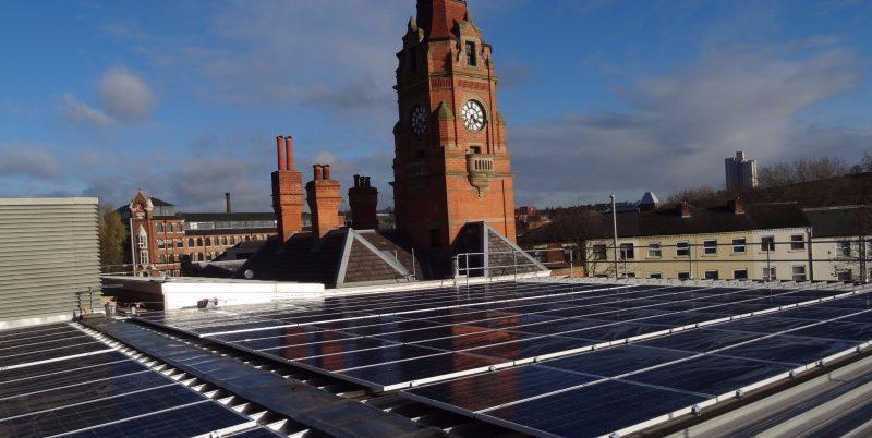 Victoria Leisure Centre is Nottingham City Council's latest green energy site