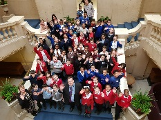 64 Nottingham children designed and built their 'ideal city' at Primary Parliament