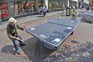 People playing ping