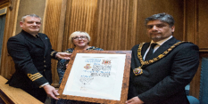 HMS Sherwood officially granted Freedom of the City of Nottingham