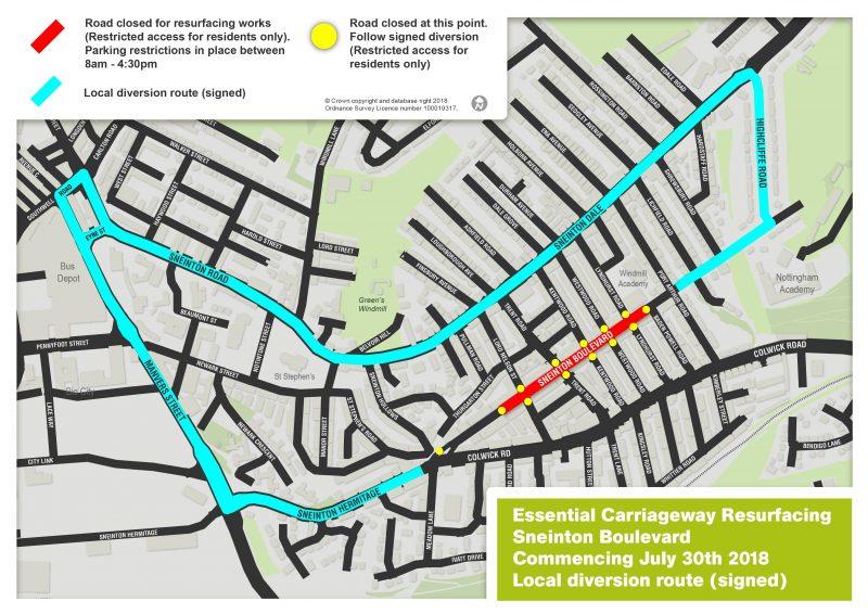 Sneinton Boulevard resurfacing