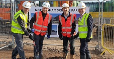 Construction underway at Grade A office space site on Nottingham Science Park