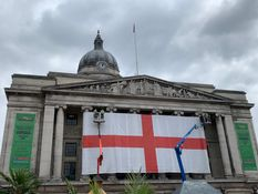 Nottingham celebrates famous cricket win with Council House flag