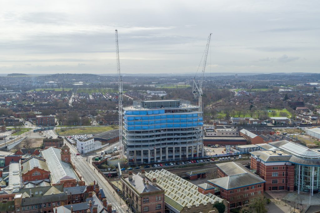 The Unity Square development from the air