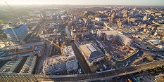 Southside from above: new drone photography showcases Southside redevelopment in Nottingham