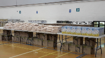 City Council food parcel operation swings into action