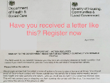 Received a letter from the NHS? Register your needs