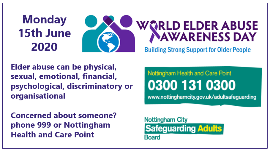 Monday 15 June is World Elder Abuse Awareness Day