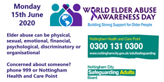 World Elder Abuse Awareness Day - 15 June 2020