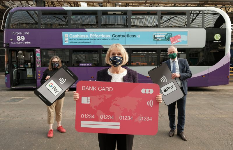 Cashless and effortless contactless payments launch on Nottingham City Transport buses