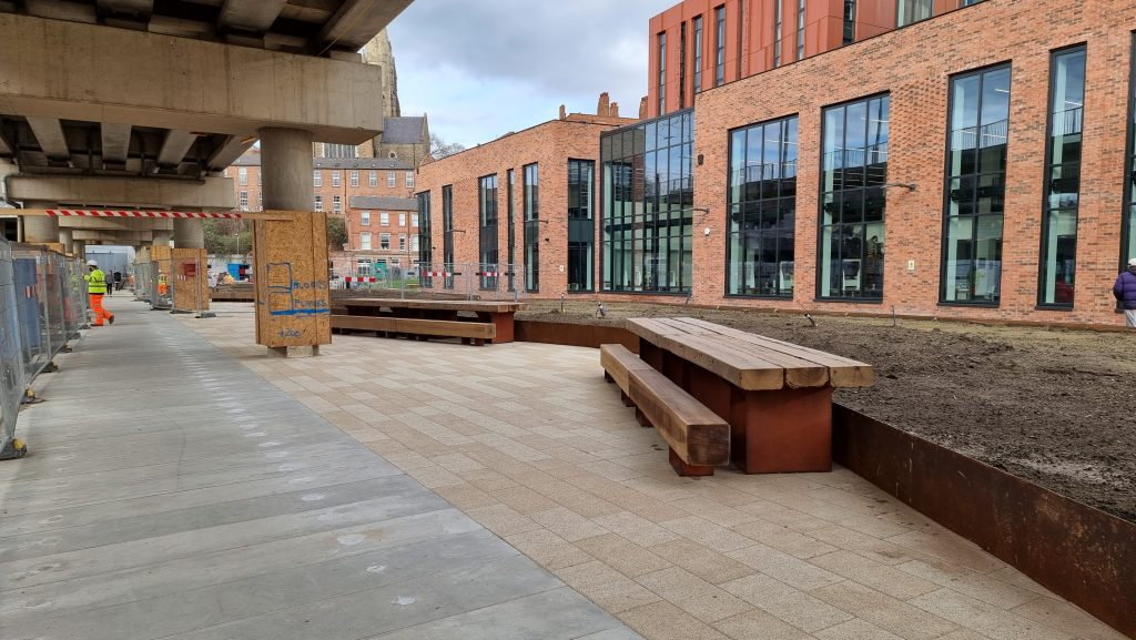 New public realm on Sussex Street