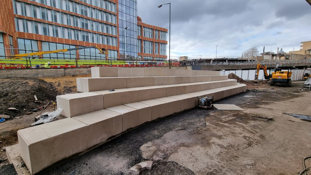 New steps from Sussex Street to Middle Hill