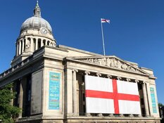 St George flag ready to be unfurled as England head into the Euros