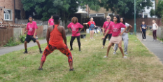 Dancing in the streets of Bulwell – Socially Distant Street Zumba