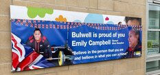 Well-done banners lifted in Bulwell to mark Emily's Olympic triumph